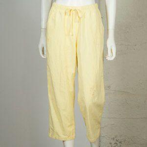 Pants - Vtg 2000's LEMON YELLOW Lightweight Petite Slacks
